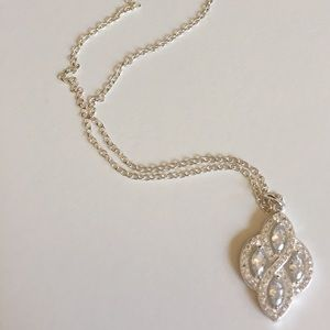 Charter Charter Crystal Silver Tone Necklace